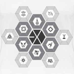 EXO - Hexagons [Women's Shirt] - Women's Premium T-Shirt