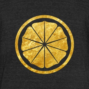 Seishinkai Karate Kamon in gold texture T-Shirts - Unisex Tri-Blend T-Shirt by American Apparel