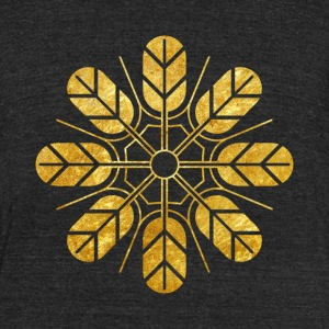 Inoue clan kamon in gold T-Shirts - Unisex Tri-Blend T-Shirt by American Apparel