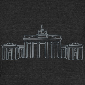 Brandenburg Gate Berlin T-Shirts - Unisex Tri-Blend T-Shirt by American Apparel