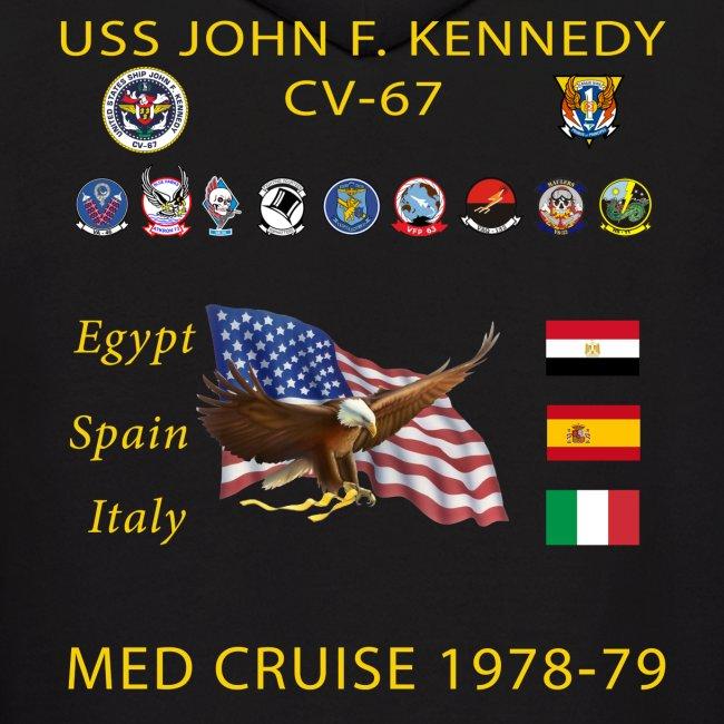 USS JOHN F KENNEDY CV-67 MED CRUISE 1978-79 HOODIE
