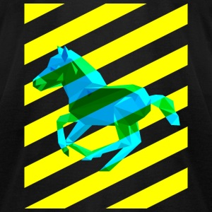 Horse With Stripes - Men's T-Shirt by American Apparel