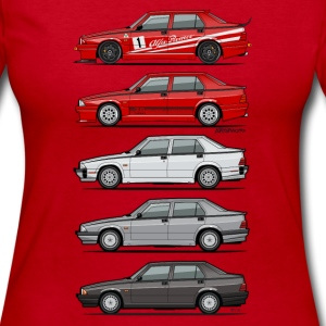 Stack of Alfa 75 Milano Tipo 161 Long Sleeve Shirts - Women's Long Sleeve Jersey T-Shirt