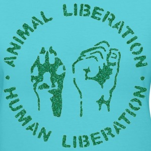 animal rights Women's T-Shirts - Women's V-Neck T-Shirt