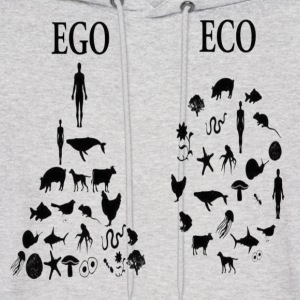 animal rights ego vs eco Hoodies - Men's Hoodie