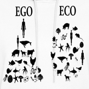 animal rights ego vs eco Hoodies - Women's Hoodie