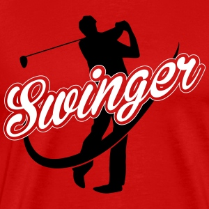 Golf: Swinger T-Shirts - Men's Premium T-Shirt