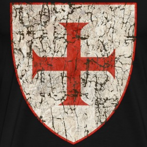 Templar Cross, Old - Men's Premium T-Shirt