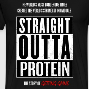 Straight Outta Protein - Men's Premium T-Shirt