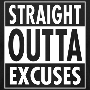 Straight Outta Excuses T-Shirts - Men's T-Shirt by American Apparel