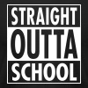 Straight Outta School T-Shirts - Men's T-Shirt by American Apparel