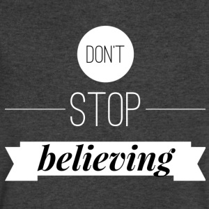 Don't stop believing T-Shirts - Men's V-Neck T-Shirt by Canvas