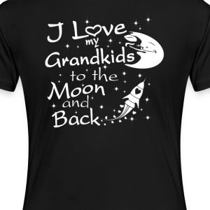 I Love My GrandKids to the Moon and Back - Women's Premium T-Shirt