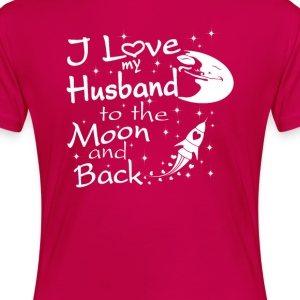 I Love My Husband to the Moon and Back - Women's Premium T-Shirt