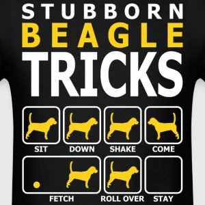 Stubborn Beagle Dog Tricks - Men's T-Shirt