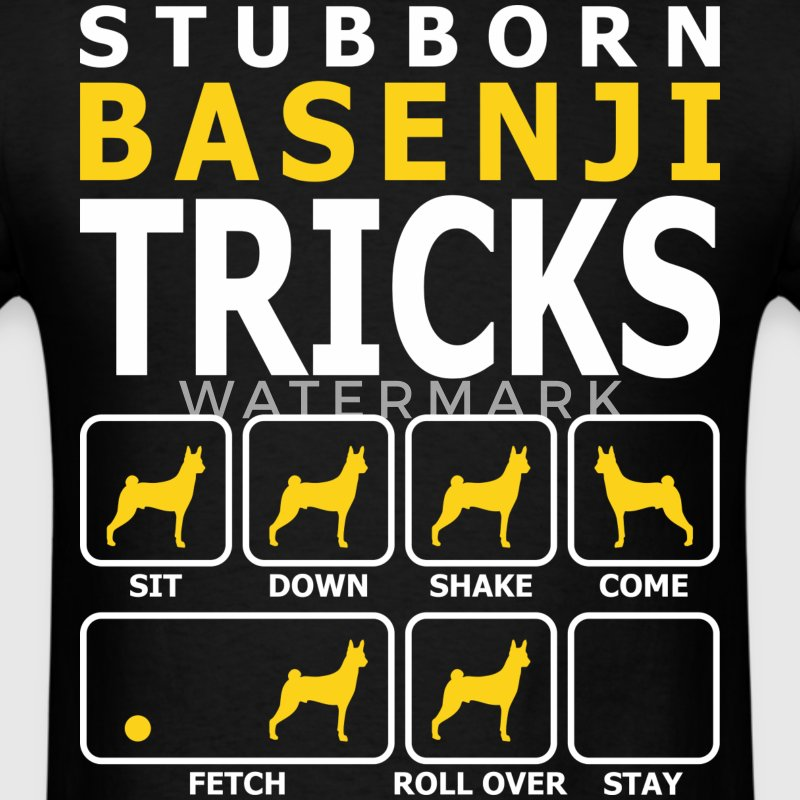 Stubborn Basenji Dog Tricks - Men's T-Shirt