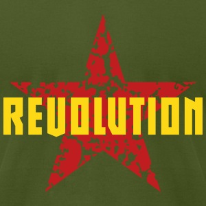 Revolution (Red Star) T-Shirts - Men's T-Shirt by American Apparel