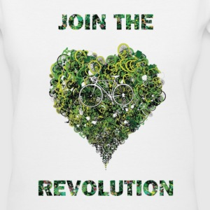 join the revolution Women's T-Shirts - Women's V-Neck T-Shirt