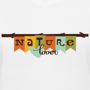 nature lover Women's T-Shirts - Women's V-Neck T-Shirt