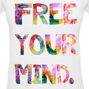 free your mind Women's T-Shirts - Women's V-Neck T-Shirt