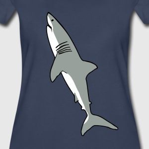 great white shark Women's T-Shirts - Women's Premium T-Shirt