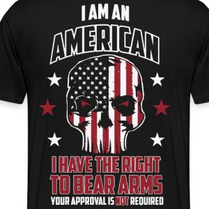 American pride, Humor bear arms, 2nd amendment - Men's Premium T-Shirt