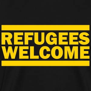 refugees welcome T-Shirts - Men's Premium T-Shirt