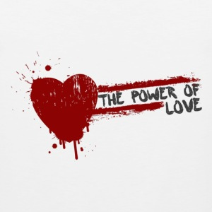 the power of love Tank Tops - Men's Premium Tank