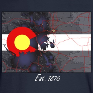 Colorado Topo Map Mens Long Sleeve - Men's Long Sleeve T-Shirt
