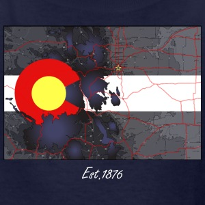 Colorado Topo Map Kids Tee - Kids' T-Shirt
