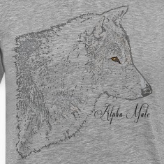 Alpha Male Grey Wolf Head Art