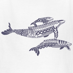 Tropical Whales Kids T-Shirt - Kids' T-Shirt