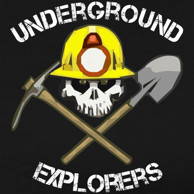 Underground Explorers Premium Black Logo Tee (large sizes available)