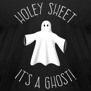 Holey Sheet It's A Ghost T-Shirts - Men's T-Shirt by American Apparel