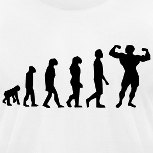 Evolution Body Building - Men's T-Shirt by American Apparel