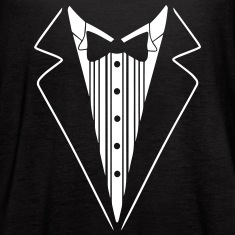 SMOKING TUXEDO SHIRT Tanks