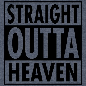 Straight Outta Heaven T-Shirts - Men's V-Neck T-Shirt by Canvas