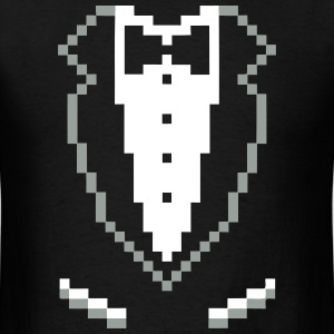 SMOKING TUXEDO PIXEL SHIRT T-Shirts - Men's T-Shirt