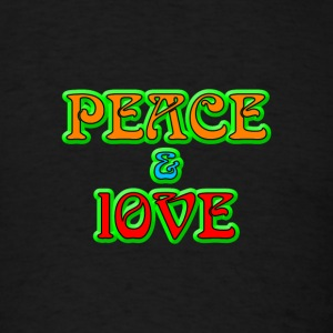 Peace And Love - Men's T-Shirt