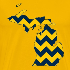 Michigan Blue and Maize Yellow T-Shirts - Men's Premium T-Shirt