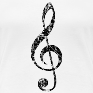 Treble Clef T-Shirt (Women/White) - Women's Premium T-Shirt