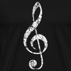 Treble Clef T-Shirt (Men/Black) - Men's Premium T-Shirt