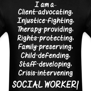 I Am A Social Worker - Men's T-Shirt