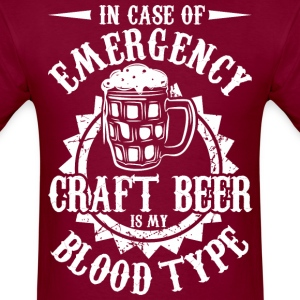 In Case Of Emergency Craft Beer Is My Blood Type - Men's T-Shirt