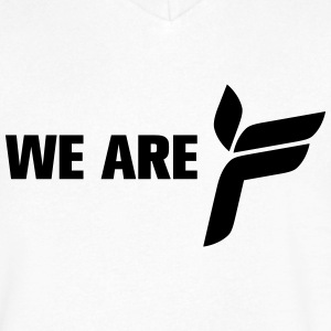 Ferry Corsten 'We Are F' shirt White - Men's V-Neck T-Shirt by Canvas