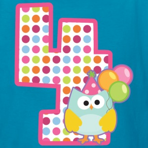 4th Birthday Girls Owl Kids' Shirts - Kids' T-Shirt