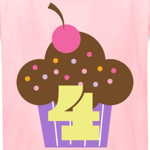 4th Birthday Cupcake Kids' Shirts - Kids' T-Shirt