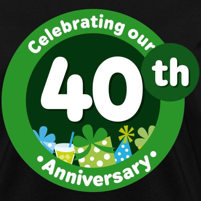 Homewise Shopper 40th Wedding Anniversary T Shirt Womens T Shirt
