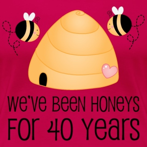 40th Anniversary Honey Bees Women's T-Shirts - Women's Premium T-Shirt