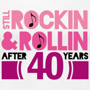 40th Anniversary Rock N Roll Women's T-Shirts - Women's Premium T-Shirt